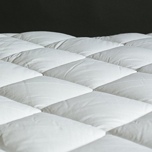 The Bettersleep Company Hotel Quality Supersoft Polycotton Box Stitched Quilted Mattress Toppers Single Bed – Extra comfort & Anti Allergenic 90 x 190 cm