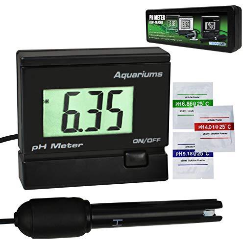 Digitale pH-Wasser-Wasser-Messgerät-Prüfgerät-Monitor mit austauschbarer BNC-Elektroden-Sonde Einstellbare Montagehalterung für Aquarium-Tank Wasserdicht -