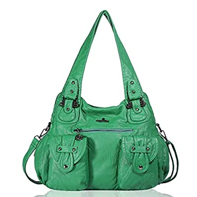 Angelkiss 2 Top Zippers Multi Pockets Femmes Sacs à main / Bourses en cuir lavé / Sacs à bandoulière XS160737