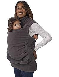 WDGT Multi-Función Canguro Chaleco Madre Abrigo Bebé Sling Mujer Maternidad Vestido De Mujer Embarazadas Camisa Bebé Ropa De Bebé Chaleco Polar Chaleco Deportivo Otoño E Invierno,Gray,M