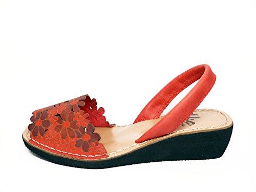 Selquir Donna sandali di Minorca Rosso