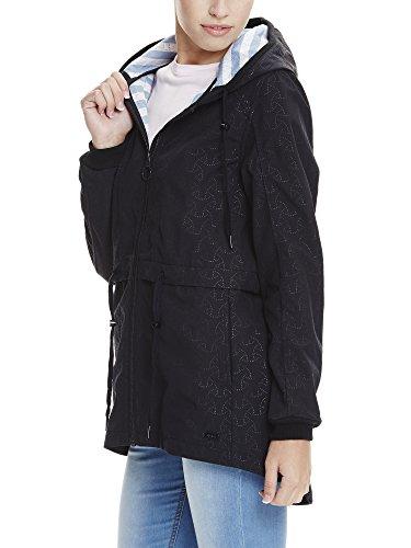 Bench Damen Jacke New Slim Longline Bonded Schwarz (Black Beauty BK11179)