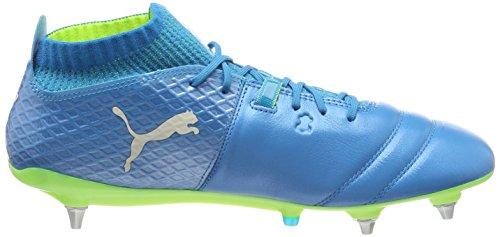 Puma One 17.1 MX SG, Chaussures de Football Homme Bleu (Atomic Blue- White-safety Yellow)