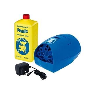 Pustefix - Máquina de hacer pompas y botella de jabón de 1000 ml (Carrera 420869790)