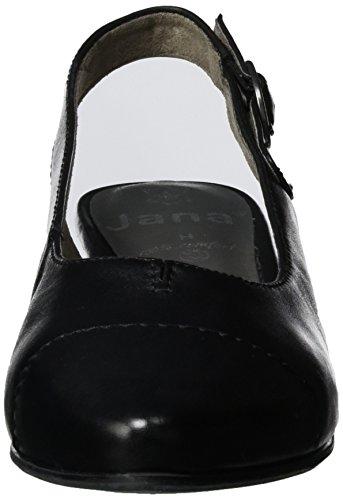 Jana Damen 29440 Slingback Schwarz (BLACK UNI 007)