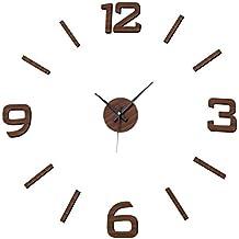 Dcasa - Reloj de Pared de Polipropileno marrón Moderno para salón Factory