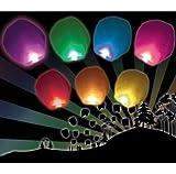 Farolillos chinos voladores de colores (lote de 10unidades)
