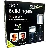 طقم بناء الشعر من ديكسي، 22 غرام من الالياف بلون بني متوسط مع 100 مل من بخاخ تثبيت الشعر