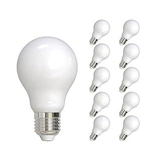 Lumilife 11W E27LED Standard Filament 10Stück Warm Weiß satiniert Finish 90W Ersatz