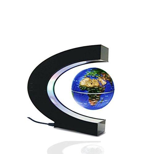 Glovion C Magnetisch levitation Globus Weltkarte mit LED - Blue (Weltkarte Im Klassenzimmer)