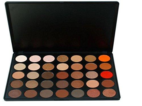 Palette de Fard à paupières, FantasyDay 35 Couleurs Professionnelle Shimmer Matte Ultra Pigmenté Bases de Ombre à paupières Maquillage Palette Cosmétique Set - Eyeshadow Makeup Beauty Kit