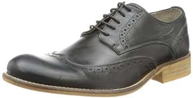 Buffalo Mens ES 1070 CRAZY WHITE Brogue Black Schwarz (BLACK 01) Size: 46