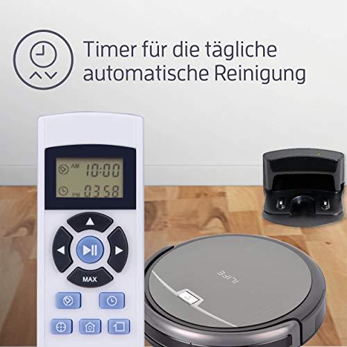 Saugroboter ILIFE A4s automatischer Staubsauger Roboter | Borstenbürste für kurzflorigen Teppich | leiser Betrieb über 2 Stunden staubsaugen | Fallschutz | Beutellos | Staubtank 450ml | Ladestation - 7