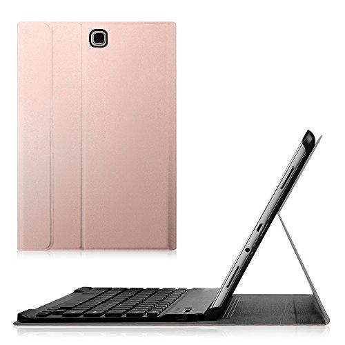 Fintie Blade X1 Samsung Galaxy Tab A 9.7 Bluetooth Tastatur Hülle Keyboard Case - Ultradünn leicht SmartShell Ständer Schutzhülle mit magnetisch abnehmbarer drahtloser deutscher Bluetooth Tastatur für Samsung Galaxy Tab A 9.7 T550N / T555N 24,6 cm (9,7 Zoll) Tablet-PC, Roségold