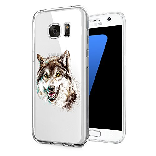 Coque Samsung Galaxy S7 edge Pacyer® TPU Cover Silicone Anti-Scratch Bumper Housse Absorption de Choc Clair Design Motif Transparent Pour Samsung Galaxy S7 edge 5