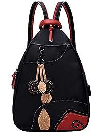 Eshow Nylon Femmes Sacs à Dos Sac Poitrine Casual léger Fort Petit  Multifonctionnel Packback Sac pour f3ad7b6601d