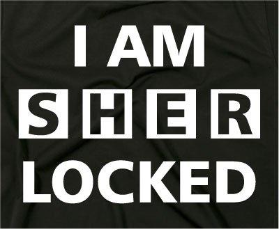 "T-shirt con scritta ""I Am Sherlocked"" Sherlock Holmes, serie TV Verde"