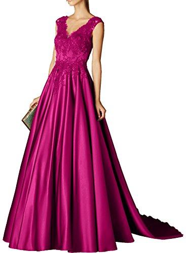 Charmant Damen Dunkel Gruen Elegant Spitze Langes Abendkleider Ballkleider Partykleider Abschlussballkleider Dunkel Pink