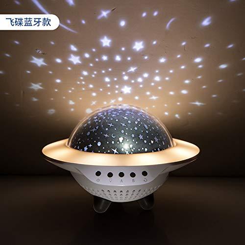 tor projektor lampe,Projektion LED Nachtlicht Bluetooth Audio Kreative Romantik Stern Geburtstagsgeschenk Sternzeit Timing Plug-in Licht, A ()