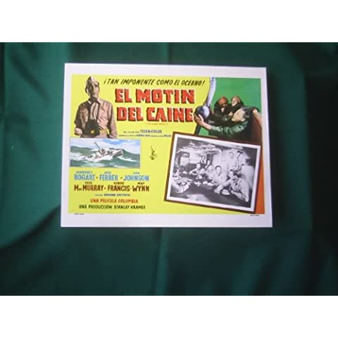Original Mexican Lobby Card The Caine Mutiny Humphrey Bogart Edward Dmytryk