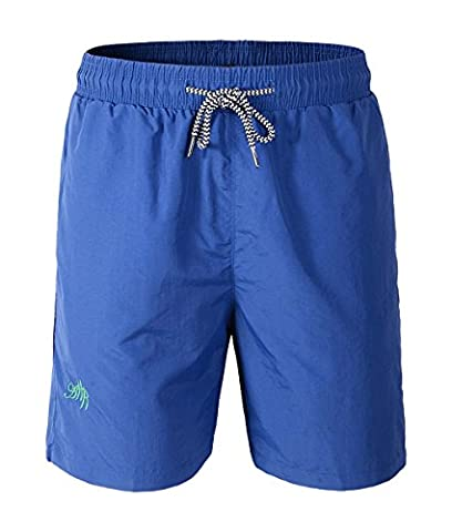 Maillot De Bain Homme - YousonGirl Boxer Trunks Shorts Pantalon Court De Sport Plage Mer Loisir Swim Bermudas Élastique Réglable Bande Été (XL, bleu)