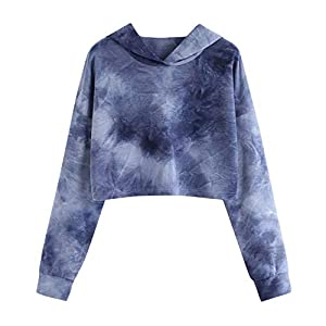 feiXIANG Pulli Sweatshirt Langarm Damen Lose Bluse Oversize Oberteil Printed angarm Pullover Tops Bluse