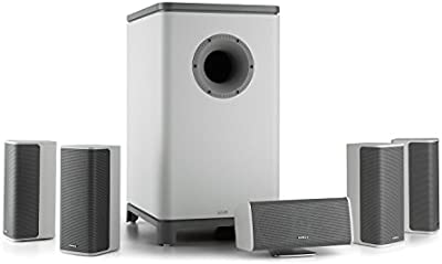 NUMAN Ambience 5.1 Surround Sound System (home cinema, 4x altavoces satélite, 1x subwoofer, 1x altavoz central, montaje pared)