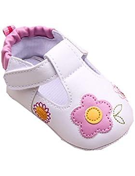 YICHUN Prewalker zapatos de bebé niñas flores cuna zapatos de bebé suave zapatos de ocio zapatos