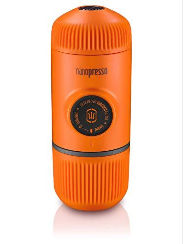 Wacaco Nanopresso Tragbare Espressomaschine, Upgrade-Version von Minipresso, 18 Bar Druck, Orange Patrouillieren, kleine Reisekaffeemaschine, manuell betrieben, zum zelten und wandern