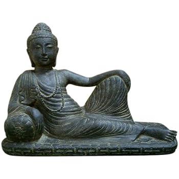 Buddha Liegend Amazon De Garten