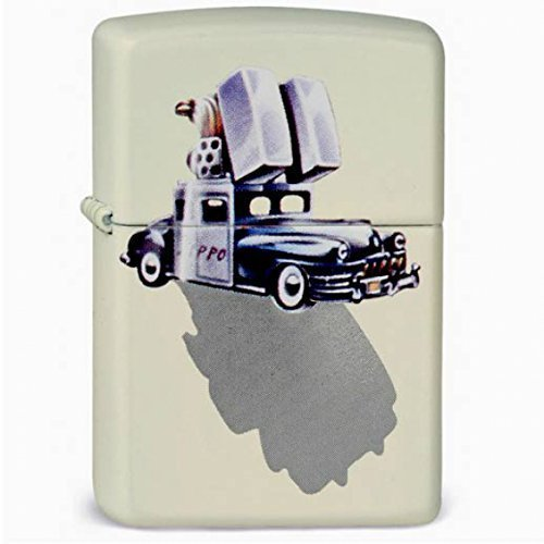 Price comparison product image Original Zippo Lighter Car Retro Black Chrysler,-frosty white