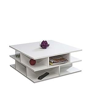 Symbiosis 2130A2100X00 Contemporain Table Basse Multicases Blanc 70 x 70 x 28,9 cm