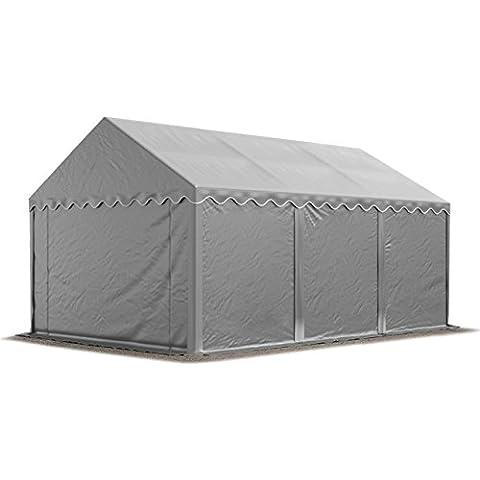 Refugio de almacenamiento de 4x 6m impermeable con fuerte 500g/m² Lona, toldo tienda de PVC con completamente galvanizado y atornillar