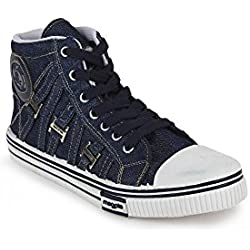 Scantia Casual Canvas Shoes For Men's _Colour_ Blue _ with Latest Fashionable stylish look_ (Aluminium Foil with 50 piece of food poch for Dugra Puja and Diwali Special Gift on every Purchase)