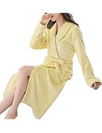 Femaroly Women Warm Bathrobe Ladies Autumn Winter Fleece Dressing Gown  Night Robes Housecoat 83fc6c9f6