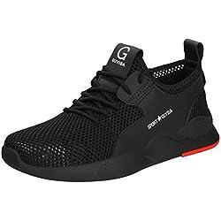 AG&T❤ Homme Basket Chaussures de Course Running Sport Léger Fitness Sneaker