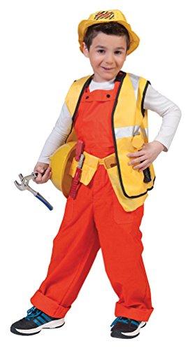 Preisvergleich Produktbild , Karneval Klamotten' Kostüm Latzhose orange Kostüm Junge Mädchen Karneval Kinderkostüm Größe 116