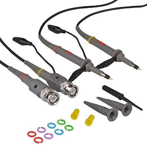 6100 Kit (SHIJING 6100 2-TLG. Oszilloskop-Tastkopf-Kit Dc-100Mhz Oszilloskop-Clip-Tastkopf 100Mhz für HP X1 / X10)