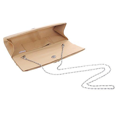 Damara® Perlen Strass Steckfach Damen Adlig Handtaschen Grau