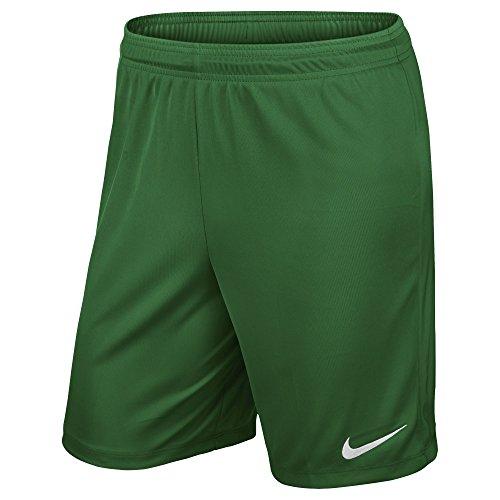 Nike Kinder Park II Knit Shorts mit Innenslip Trainingsshorts, Pine Green/White, L (Bekleidung Green Pine)