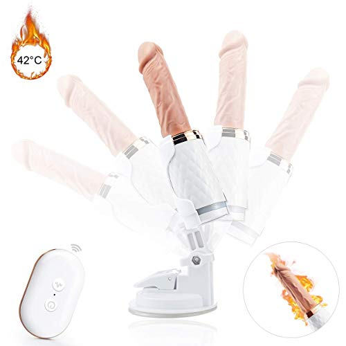 ANSCIO Sex Maschinengewehr Elektrische Dildo Mini Automatische Vibratoren für Männer und Frauen Sexspielzeug Medizinische Silikon/Intelligente Heizung / 7 Arten Teleskop X 7 Frequenz Vibration Modus (Automatisches Maschinengewehr)