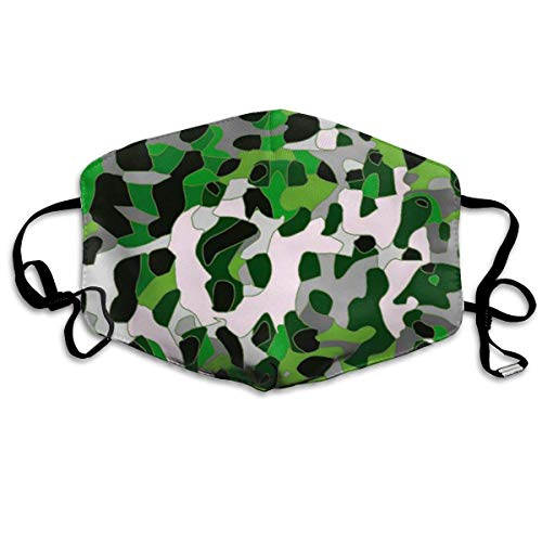 Daawqee Staubschutzmasken, Florescent Green Grey Cheetah Anti Dust Face Mouth Cover Mask Respirator Cotton Protective Breath Healthy Safety Warm Windproof Mask