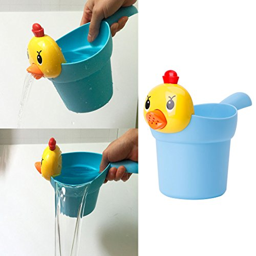 dairyshop Baby Badezimmer baden wasser Toys, Cartoon Chicken, Shampoo Tasse Wasser Löffel Blau NEU (Spa Haustier-shampoo)