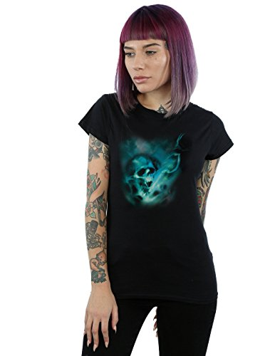 Harry Potter Mujer Voldemort Dark Mark Mist Camiseta Medium Negro
