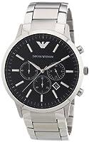 Emporio Armani AR2460 - Reloj cronógrafo de cuarzo para hombre, correa de acero inoxidable color plateado de Emporio Armani