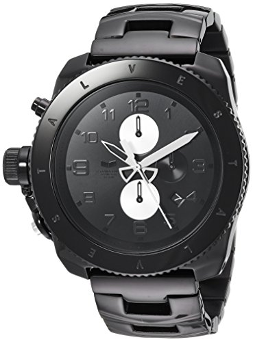 Vestal Men's Restrictor' Quartz Stainless Steel Dress Watch (Model: RES016) One Size Black