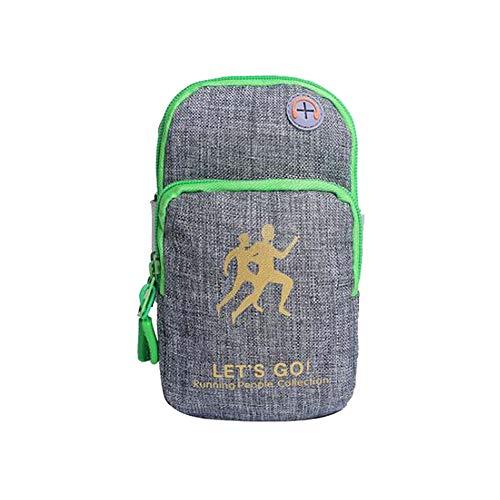 Wind Goal sport da braccio borsa impermeabile Oxford Smart Phone WRIST bag running palestra borsa universale con foro per auricolari, pezzi Gray