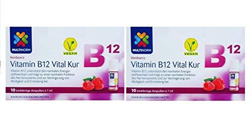 Multinorm Vitamin B12 Vital Trink-Kur Geschmack Himbeeree 2x10 Stk 7ml pro Stk