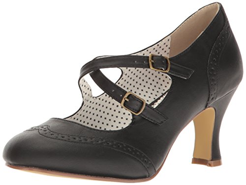 FLAPPER-35 Pumps, Schwarz (Blk Faux Leather), 36 EU ()