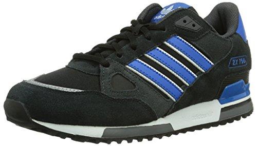 Adidas, ZX 750, Scarpe sportive, Uomo, Multicolore (C Black/BLUBIR/FTWWHT), 44 2/3